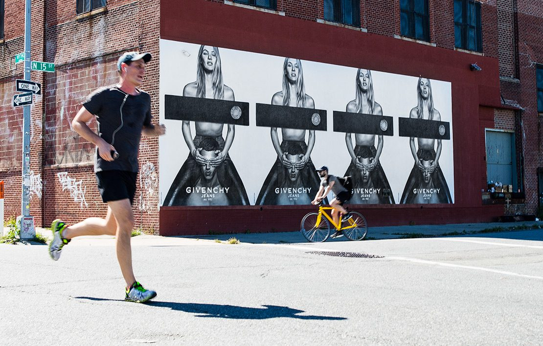 Givenchy mural by Colossal Media