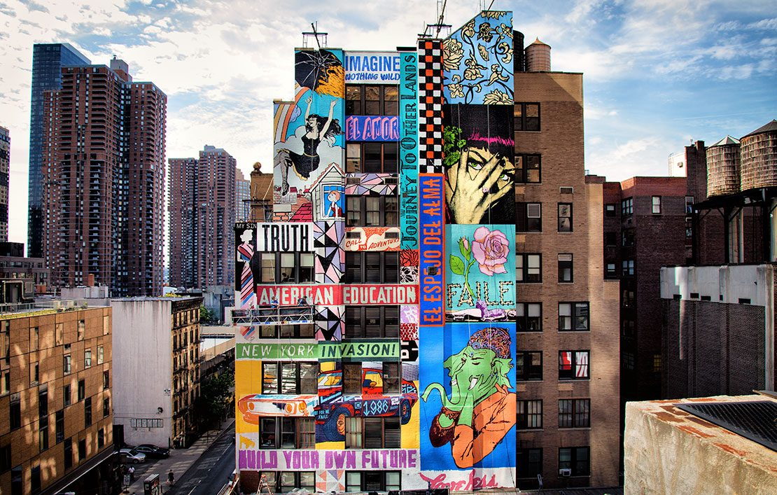 Faile: The Plant. Public art hand painted by Colossal Media