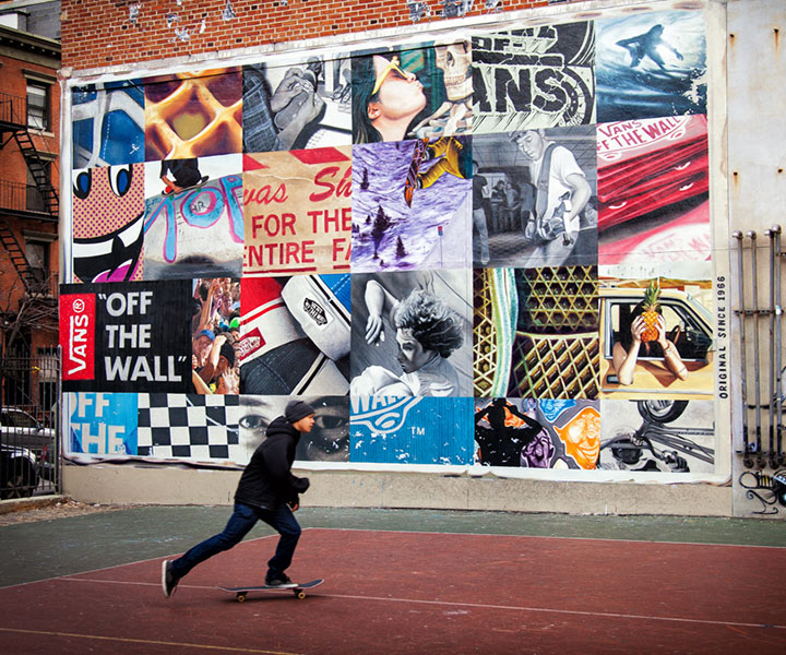 Vans skate park mural hand painted by Colossal Media